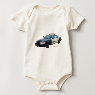 Classic_Police_Car_Black_White Baby Bodysuit