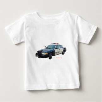 Classic_Police_Car_Black_White Baby T-Shirt