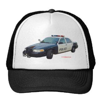 Classic_Police_Car_Black_White Trucker Hats