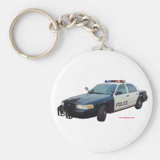 Classic_Police_Car_Black_White Key Chains