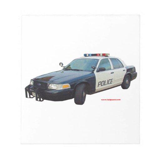 Classic_Police_Car_Black_White Libreta Para Notas