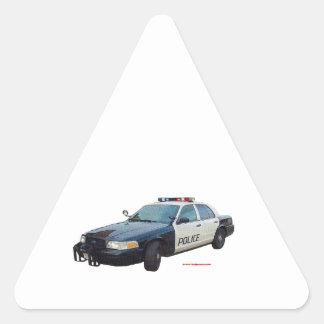 Classic_Police_Car_Black_White Triangle Sticker