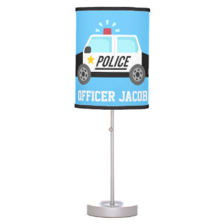 Classic  Police Car with Siren For Boys Room Desk Lamps