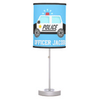 Classic  Police Car with Siren For Boys Room Table Lamp