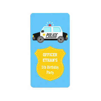Classic Police Car with Siren For Kids Address Label