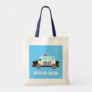 Classic Police Car with Siren For Kids Tote Bag
