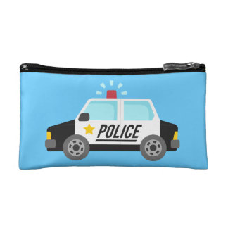 Classic Police Car with Siren For Kids Cosmetic Bag
