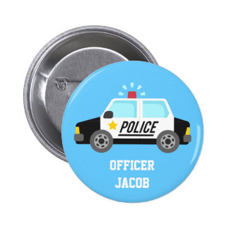 Classic Police Car with Siren For Kids Button