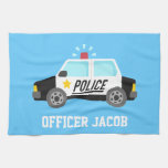 Classic Police Car with Siren For Kids Kitchen Towel