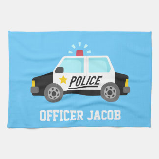 Classic Police Car with Siren For Kids Kitchen Towels