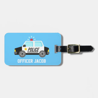 Classic Police Car with Siren For Kids Tags For Bags