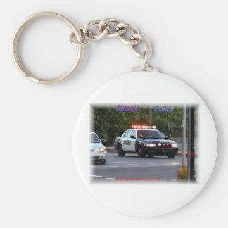 Classic Police Lights Code 3 Keychain