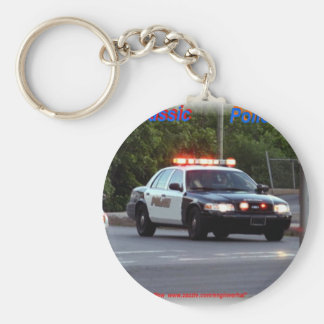Classic Police Lights Code 3 Keychains