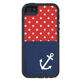 Classic Polka Dot Nautical Love iPhone 5 Covers