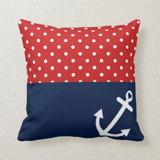 Classic Polka Dot Nautical Love Pillows