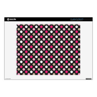 Classic Polkadots Decals For Laptops