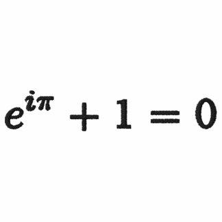 Classic Polo Shirt: Euler's identity small, black