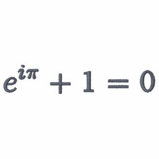 Classic Polo Shirt: Euler's identity, small, gray