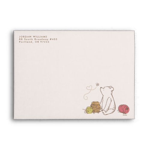 Classic Pooh and Honey Pots Envelope