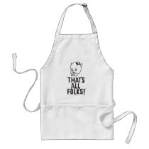 "Classic Porky Pig ""That's All Folks!"" Adult Apron"