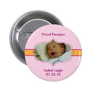 Classic Prep Photo Girl Baby Button