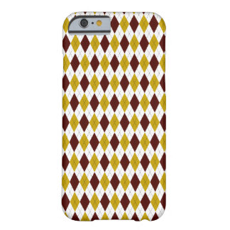 Classic Preppy Argyle in Garnet and Gold Barely There iPhone 6 Case