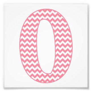 Classic Preppy Pink Chevron Letter O Monogram Photo Print