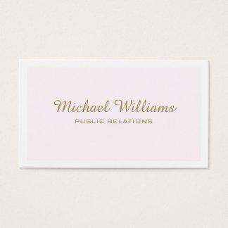 Classic professional elegant rose simple minimum business card