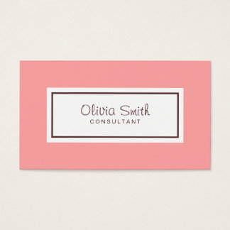 Classic Professional Social Media Pastel Pink Business Card