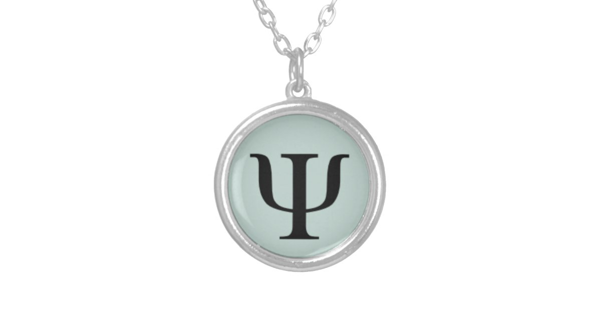 Classic Psychology Symbol Necklace Zazzle