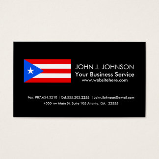 Classic Puerto Rican Flag Business Card