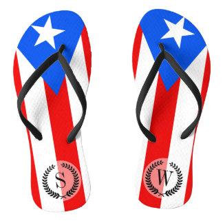 Classic Puerto Rican Flag Flip Flops