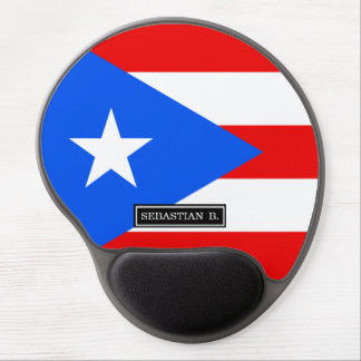 Classic Puerto Rican Flag Gel Mouse Pad