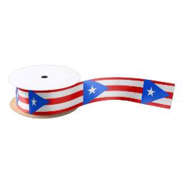 Classic Puerto Rican Flag Satin Ribbon