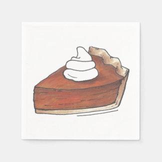 Classic Pumpkin Pie Slice Thanksgiving Dinner Food Napkin