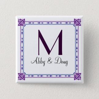 Classic purple and blue diy logo button