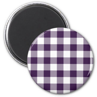 Classic Purple and White Gingham Pattern Magnet