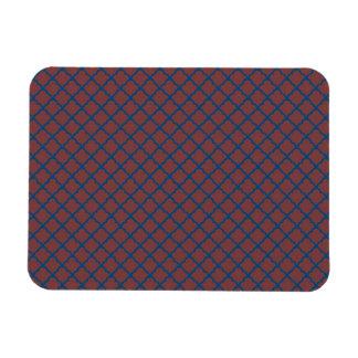 Classic Quatrefoil Brick Red and Blue Rectangular Photo Magnet