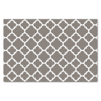 """Classic Quatrefoil Pattern with Coordinating Color 10"""" X 15"""" Tissue Paper"""