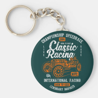 Classic Racing Born To Race International Champion Keychain
