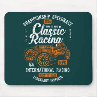 Classic Racing Born To Race International Champion Mouse Pad