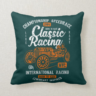 Classic Racing Born To Race International Champion Throw Pillow