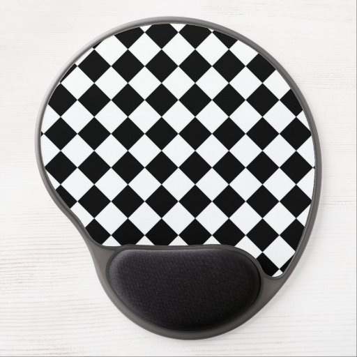 Classic Racing Flag Checkers Gel Mousepad