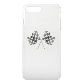 Classic Racing Flags Stripes in Carbon Fiber Style iPhone 7 Plus Case