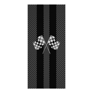 Classic Racing Flags Stripes in Carbon Fiber Style Rack Cards
