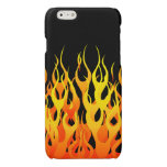 Classic Racing Flames on Black Glossy iPhone 6 Case