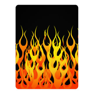 Classic Racing Flames on Fire 6.5x8.75 Paper Invitation Card