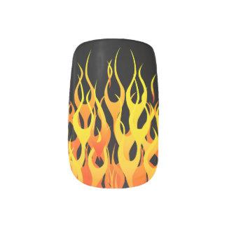 Classic Racing Flames on Fire Minx® Nail Art