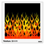 Classic Racing Flames on Fire Room Stickers