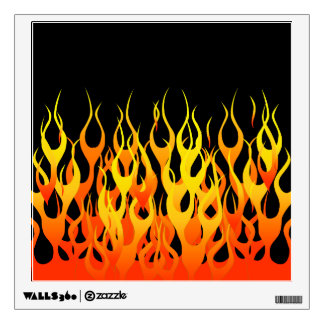 Classic Racing Flames on Fire Room Graphics